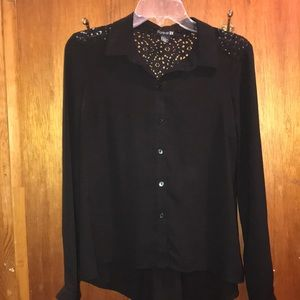 Forever 21 black lace blouse